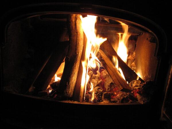 Aske fra brændeovn