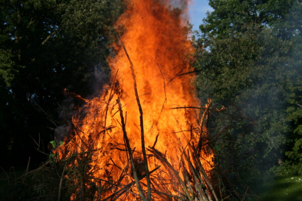 Afbrænding af haveaffald – Sankt Hans